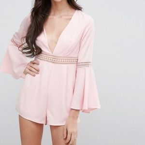 Pink romper with cutouts